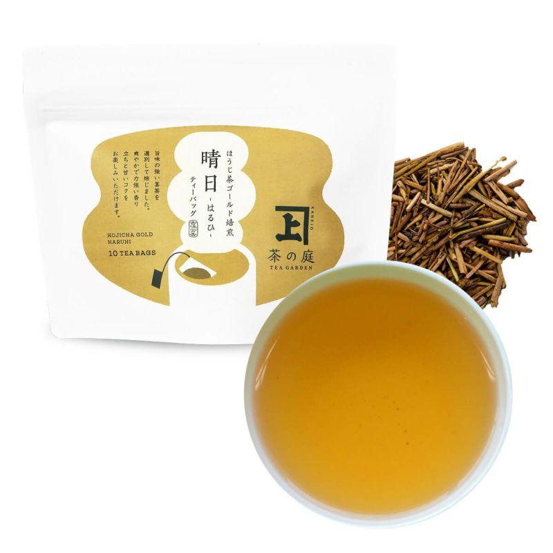 かねじょう 茶の庭 ほうじ茶ゴールド焙煎 晴日 - はるひ - ティーバッグ10個入り