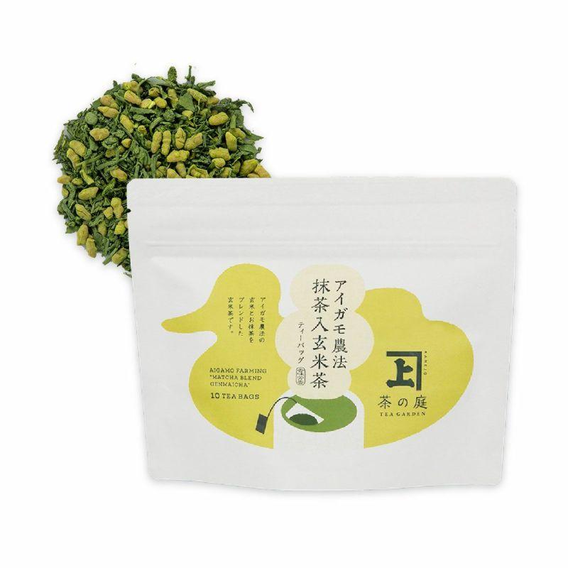 かねじょう 茶の庭 アイガモ農法 抹茶入玄米茶 ティーバッグ